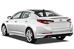 Rear three quarter view of a 2013 Kia Optima SXL