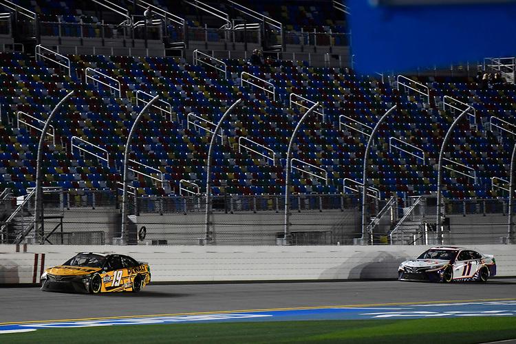 #19: Martin Truex Jr., Joe Gibbs Racing, Toyota Camry DeWalt #11: Denny Hamlin, Joe Gibbs Racing, Toyota Camry FedEx Express