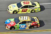 Monster Energy NASCAR Cup Series<br /> The Advance Auto Parts Clash<br /> Daytona International Speedway, Daytona Beach, FL USA<br /> Sunday 11 February 2018<br /> Kyle Busch, Joe Gibbs Racing, M&M's Toyota Camry, Ryan Blaney, Team Penske, Menards/Peak Ford Fusion<br /> World Copyright: John K Harrelson<br /> LAT Images