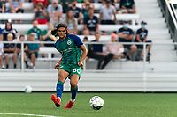 HARTFORD, CT - AUGUST 17: Justin Haak #80 of Hartford Athletic passes the ball during a game between Charleston Battery and Hartford Athletic at Dillon Stadium on August 17, 2021 in Hartford, Connecticut.