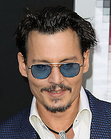 """WESTWOOD, LOS ANGELES, CA, USA - APRIL 10: Actor Johnny Depp arrives at the Los Angeles Premiere Of Warner Bros. Pictures And Alcon Entertainment's """"Transcendence"""" held at Regency Village Theatre on April 10, 2014 in Westwood, Los Angeles, California, United States. (Photo by Xavier Collin/Celebrity Monitor)"""