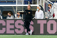 FOXBOROUGH, MA - SEPTEMBER 23: New England Revolution coach Bruce Arena and Robert Kraft watch the play during a game between Montreal Impact and New England Revolution at Gillette Stadium on September 23, 2020 in Foxborough, Massachusetts.