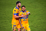 Javier Aquino of Tigres UANL (MEX) celebrates after scoring a goal against New York City FC (USA) during their Scotiabank Concacaf Champions League Quarter Finals match at the Orlando's Exploria Stadium on 15 December 2020, in Florida. Photo by Victor Fraile / Power Sport Images