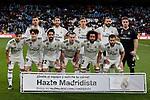 Real Madrid's team photo during La Liga match between Real Madrid and SD Huesca at Santiago Bernabeu Stadium in Madrid, Spain.March 31, 2019. (ALTERPHOTOS/A. Perez Meca)