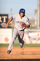 Bobby Crocker #22 of the Stockton Ports runs the bases during a game against the Lancaster JetHawks at The Hanger on June 24, 2014 in Lancaster, California. Stockton defeated Lancaster, 6-4. (Larry Goren/Four Seam Images)
