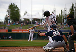 Reno Aces' Nick Heath hits against the Tacoma Rainiers, in Reno, Nev., on Friday, May 28, 2021. <br /> Photo by Cathleen Allison