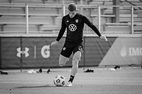 BRADENTON, FL - JANUARY 21: Chris Mueller passes the ball during a training session at IMG Academy on January 21, 2021 in Bradenton, Florida.