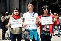 Milano 30/05/2013 Palazzo Isimbardi  - Flash Mob 'Stop alla violenza sulle donne'<br />  <br /> Foto Andrea Ninni / Image / Insidefoto