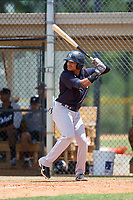 FCL Yankees Madison Santos (34) bats during a game against the FCL Tigers on June 28, 2021 at Tigertown in Lakeland, Florida.  (Mike Janes/Four Seam Images)