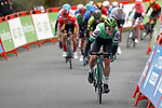 Gonzalo Serrano Rodriguez (ESP) Caja Rural-Seguros RGA attacks out of the peloton near the end of Stage 14 of the Vuelta Espana 2020, running 204.7km from Lugo to Ourense, Spain. 4th November 2020. <br /> Picture: Luis Angel Gomez/PhotoSportGomez | Cyclefile<br /> <br /> All photos usage must carry mandatory copyright credit (© Cyclefile | Luis Angel Gomez/PhotoSportGomez)