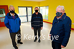 The Ard Curam Day Centre building sub committee standing inside the Day Room in the almost completed Alzheimer's Day Centre in Listowel. Front right: Finbarr Mawe. Back l to r: Brendan O'Sullivan (Chairman) and Patrick Carmody.