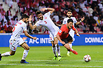 Hwang Heechan of South Korea (R) fights for the ball with Waleed Mohamed Alhayam of Bahrain (C) during the AFC Asian Cup UAE 2019 Round of 16 match between South Korea (KOR) and Bahrain (BHR) at Rashid Stadium on 22 January 2019 in Dubai, United Arab Emirates. Photo by Marcio Rodrigo Machado / Power Sport Images