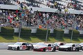 #00: Cole Custer, Stewart-Haas Racing, Ford Mustang FIMS Manufacturing #20: Christopher Bell, Joe Gibbs Racing, Toyota Supra Rheem