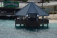 Senor Frogs am Hafen von Nassau, Bahamas - 26.01.2020: Nassau