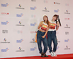 LIP SERVICE, Jun 07, 2014 : K-pop girl group Lip Service pose before the Dream Concert in Seoul, South Korea. (Photo by Lee Jae-Won/AFLO) (SOUTH KOREA)