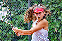 Hilversum, Netherlands, August 8, 2018, National Junior Championships, NJK, Charlotte Haas (NED)<br /> Photo: Tennisimages/Henk Koster