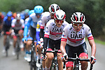UAE Team Emirates on the front during La Fleche Wallonne 2020, running 202km from Herve to Mur de Huy, Belgium. 30th September 2020.<br /> Picture: ASO/Gautier Demouveaux | Cyclefile<br /> All photos usage must carry mandatory copyright credit (© Cyclefile | ASO/Gautier Demouveaux)