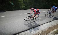 Cadel Evans (AUS) descending the Col de Macuègne (2nd Cat)<br /> <br /> Tour de France 2013<br /> stage 16: Vaison-la-Romaine to Gap, 168km