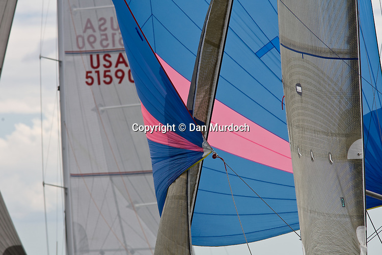 spinnakers, jibs, and mainsails