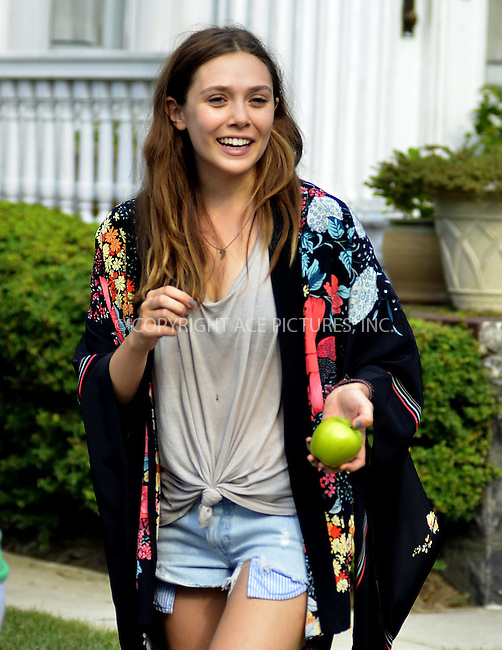WWW.ACEPIXS.COM . . . . .  ....July 10 2012, New York City....Actress Elizabeth Olsen on the Brooklyn set of the new movie 'Very Good Girls' on July 10 2012 in New York City......Please byline: CURTIS MEANS - ACE PICTURES.... *** ***..Ace Pictures, Inc:  ..Philip Vaughan (212) 243-8787 or (646) 769 0430..e-mail: info@acepixs.com..web: http://www.acepixs.com