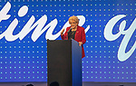 "2019 Las Vegas State of the City Mayor Carolyn Goodman,introduces  Derick Stevenson, of the Golden Gate and the D hotel Casino to announce the newest downtown stand alone casino to be built from the ground up ""CIRCA""a"
