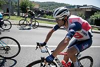 Jacopo Mosca (ITA/Trek-Segafredo) imlpersonating a 'water-turtle'... <br /> <br /> 114th Il Lombardia 2020 (1.UWT)<br /> 1 day race from Bergamo to Como (ITA/231km) <br /> <br /> ©kramon