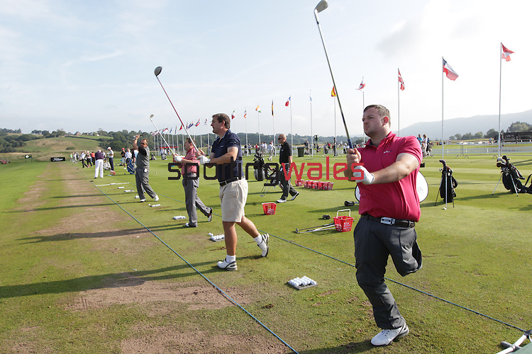 ISPS Handa Wales Open 2013<br /> Celtic Manor Resort<br /> ISPS Handa golf clinic<br /> <br /> 28.08.13<br /> <br /> ©Steve Pope-Sportingwales