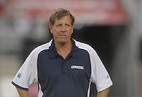 Aug 25, 2007; Glendale, AZ, USA; San Diego Chargers head coach Norv Turner during the game against the Arizona Cardinals at University of Phoenix Stadium. San Diego defeated Arizona 33-31. Mandatory Credit: Mark J. Rebilas-US PRESSWIRE
