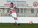Accies Andy Ryan scores their second goal.