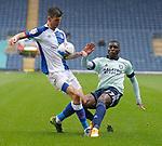 03.10.20 - Blackburn Rovers v Cardiff City - Sky Bet Championship - Sheyi Ojo of Cardiff and Daniel Ayala of Blackburn Rovers