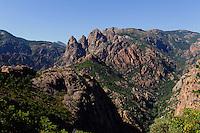 Spelunca-Schlucht des Flusses Porto, Korsika, Frankreich