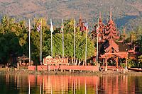 Myanmar, Burma.  Inle Resort Hotel, Inle Lake, Shan State.