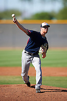 Cleveland Indians pitcher Andrew Lantrip (50) during an Instructional League game against the Kansas City Royals on October 11, 2016 at the Cleveland Indians Player Development Complex in Goodyear, Arizona.  (Mike Janes/Four Seam Images)