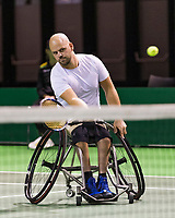 Rotterdam, The Netherlands, 14 Februari 2019, ABNAMRO World Tennis Tournament, Ahoy, Wheelchair, doubles, Stefan Olsson (SWE),<br /> Photo: www.tennisimages.com/Henk Koster