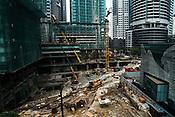 Construction site in downtown Kuala Lumpur.