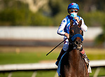 December 05, 2020: Varda with a jubilant Drayden Van Dyke wins the Starlet Stakes at Los Alamitos Race Course in Cypress, California on December 05, 2020. Evers/Eclipse Sportswire/CSM