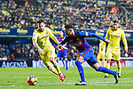 Neymar da Silva Santos Junior (c) of FC Barcelona competes for the ball with Mario Gaspar Pérez Martínez (l) of Villarreal CF during their La Liga match between Villarreal and FC Barcelona at the Estadio de la Cerámica on 08 January 2017 in Villarreal, Spain. Photo by Maria Jose Segovia Carmona / Power Sport Images