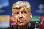 UEFA Champions League 2015-2016.<br /> Arsenal FC Press Conference.<br /> Arsene Wenger.