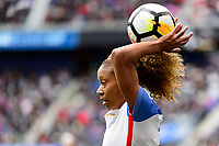 Harrison, NJ - Sunday March 04, 2018: Casey Short during a 2018 SheBelieves Cup match match between the women's national teams of the United States (USA) and France (FRA) at Red Bull Arena.