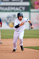 Lynchburg Hillcats second baseman Dillon Persinger (38) runs the bases during the first game of a doubleheader against the Potomac Nationals on June 9, 2018 at Calvin Falwell Field in Lynchburg, Virginia.  Lynchburg defeated Potomac 5-3.  (Mike Janes/Four Seam Images)