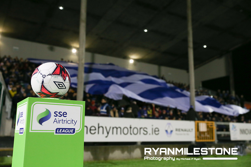 General View of the match ball ahead of the SSE Airtricity League Promotion / Relegation Play-off Final 2nd leg game between Limerick and Finn Harps on Friday 2nd November 2018 at Markets Field, Limerick. Mandatory Credit: Michael P Ryan.