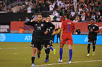 EAST RUTHERFORD, NJ - SEPTEMBER 7: Javier Hernandez #14 of Mexico celebrates his score during a game between Mexico and USMNT at MetLife Stadium on September 6, 2019 in East Rutherford, New Jersey.