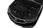 Car stock 2018 Acura TLX AUTO Technology & A-Spec Pack  RED Door 4 Sedan engine high angle detail view