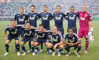 CARSON, CA - September 1, 2012: Vancouver Whitecaps FC starting line up for the LA Galaxy vs the Vancouver Whitecaps FC at the Home Depot Center in Carson, California. Final score LA Galaxy 2, Vancouver Whitecaps FC 0.