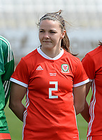 20180302 - LARNACA , CYPRUS : Welsh Loren Dykes pictured during a women's soccer game between Italy and Wales , on friday 2 March 2018 at GSZ Stadium in Larnaca , Cyprus . This is the second game in group A for Italy and Wales during the Cyprus Womens Cup , a prestigious women soccer tournament as a preparation on the World Cup 2019 qualification duels. PHOTO SPORTPIX.BE | DAVID CATRY