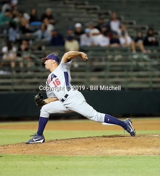 Caleb Thielbar - USA Baseball Premier 12 Team - October 25- 28, 2019 (Bill Mitchell)