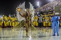 Rio de Janeiro (RJ), 21/02/2020 CARNAVAL - RJ - DESFILE - Desfile das escolas de samba  Unidos da Ponte, da Serie A, nesta sexta-feira (21), no sambodromo, no centro do Rio de Janeiro (RJ). Na foto a rainha de bateria Rosana Faria. (Foto: Ellan Lustosa/Codigo 19/Codigo 19)