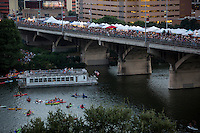 During Austin's Bat Fest, drawing an average of 15,000 attendees annually, the Bat Fest features three live music stages, over 75 arts and crafts vendors, food, drinks, bat activities for the whole family.