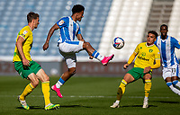 12th September 2020 The John Smiths Stadium, Huddersfield, Yorkshire, England; English Championship Football, Huddersfield Town versus Norwich City;  Josh Koroma of Huddersfield Town rises for the ball
