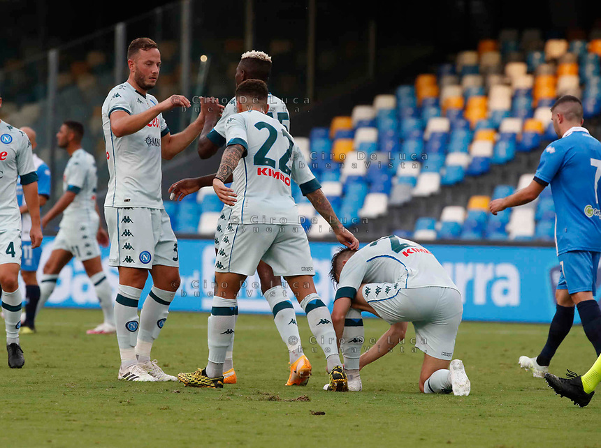 Amir Rrahmani during a friendly match Napoli - Pescara  at Stadio San Paoli in Naples